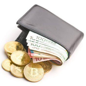 mekanik-injeksi-the-golden-bitcoin-and-euro-money-in-wallet